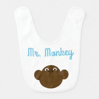 M. Monkey Baby Bib Bavoir