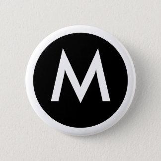 M Monogram Badge Button