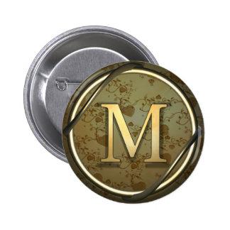 m_monogram pinback button