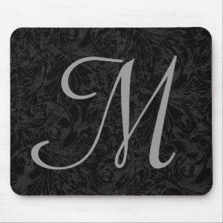 M :: Monogram M Elegant Mousepad - Initial Letter