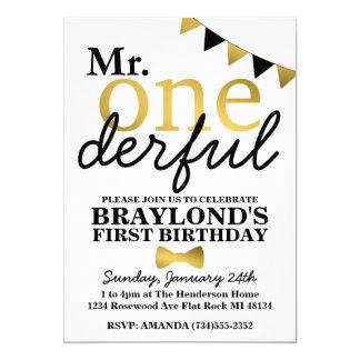 M. Onederful Black et invitation d'anniversaire