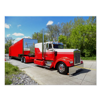 M. Page Red & White W900L Poster