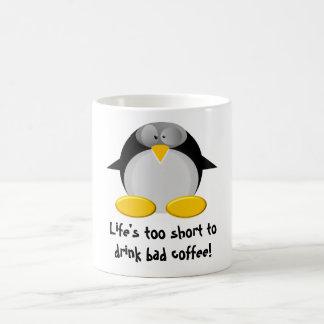 M. Penguin aime le café Mug Blanc