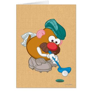 M. Potato Head - golfeur Carte De Vœux