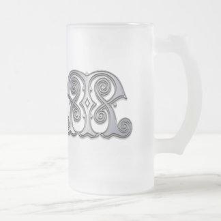 M Roman Spiral Monogram Mug