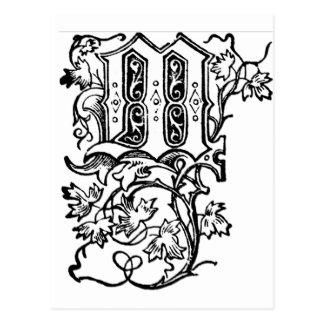 M - The Decorative Letter M Postcard