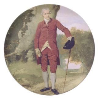 M. Thrale, c.1770-80 (huile sur la toile) Assiettes Pour Soirée
