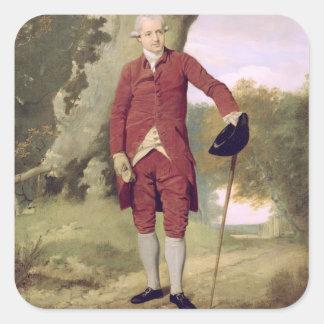 M. Thrale, c.1770-80 (huile sur la toile) Sticker Carré