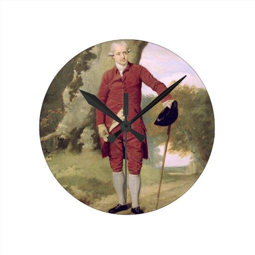 M. Thrale, c.1770-80 (huile sur la toile) Pendule