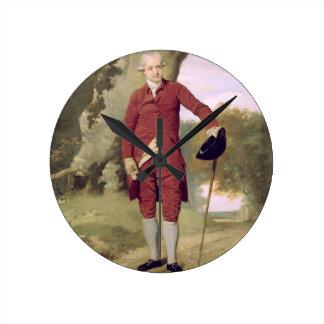 M. Thrale, c.1770-80 (huile sur la toile) Horloge Ronde
