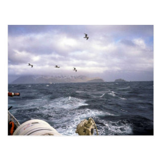 M/V Tiglax, storm at sea 1990 Postcard