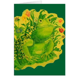 Ma carte de grenouille