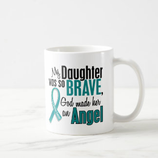 Ma fille est un Cancer ovarien de l'ange 1 Mug Blanc
