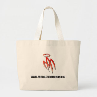 MA - logo, WWW.MIRACLEFORMADISON.ORG Large Tote Bag