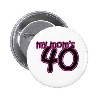 Ma maman 40 macaron rond 5 cm