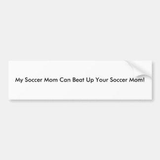 Ma maman du football peut battre votre maman du fo autocollant de voiture