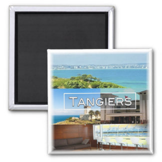 MA * Morocco - Tangiers Square Magnet