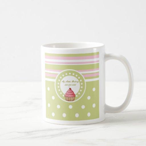 Ma petite boulangerie - vert et rose tasse à café