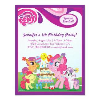 Ma petite fête d'anniversaire de poney carton d'invitation 10,79 cm x 13,97 cm