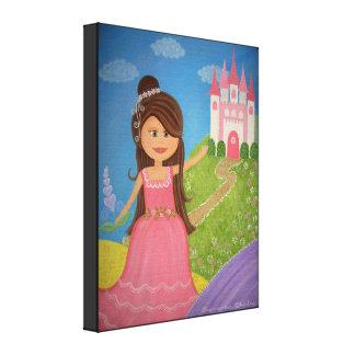 Ma princesse douce - les filles du château 16x20 impression sur toile