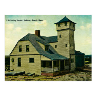MA Salisbury Beach Life Saving Station Postcard