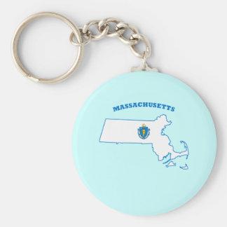 MA State Flag Keychain