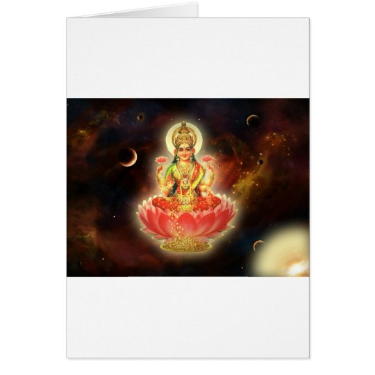 MAA MAHALAXMI DEVI INDIAN GODDESS OF WEALTH/ FORTU CARD