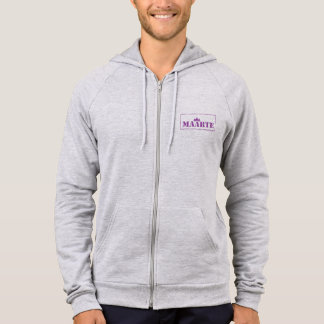 maarte American Apparel fleece full-zip hoodie