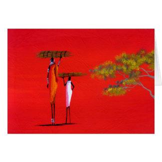 Maasai Card (Masai Mara, Kenya); X-mas red