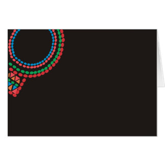 Maasai Necklace black background Card