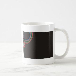 Maasai Necklace black background Coffee Mug