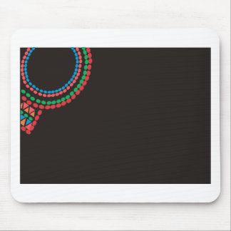 Maasai Necklace black background Mouse Pad