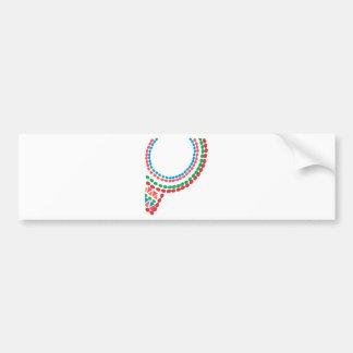 Maasai Necklace Bumper Sticker