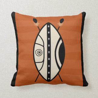 Maasai Shield Throw Pillow