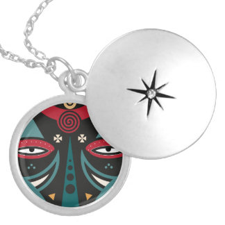 maasai warrior silver plated necklace