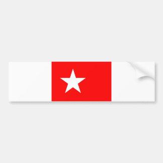 Maastricht city flag netherlands star bumper sticker