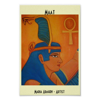 MAAT - EGYPTIAN GODDESS POSTER