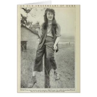 Mabel Normand 1917 production photography Card