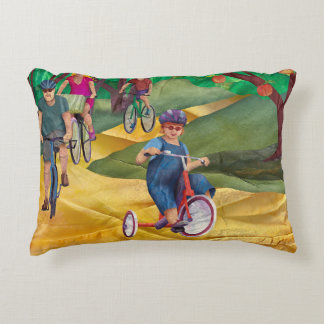 Mabell's Days, Riding My Bike Decorative Pillow