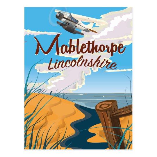 Mablethorpe, Lincolnshire vintage travel poster Postcard