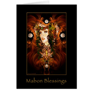 Mabon Blessings - Autumn Goddess Card