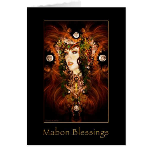 Mabon Blessings - Autumn Goddess Card