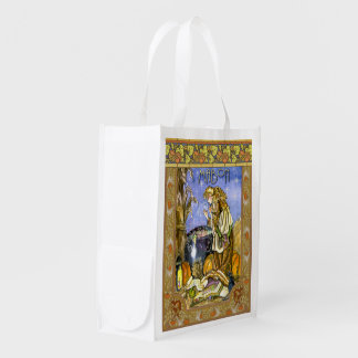 Mabon illustration reusable grocery bag