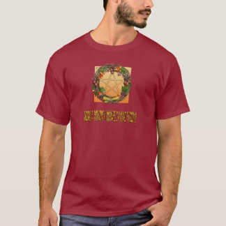 Mabon Wreath with Oak Letters T-Shirt