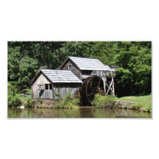 Mabry Mill poster Photographic Print