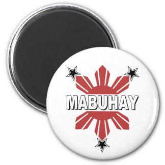 Mabuhay Filipino Sun and Star Fridge Magnets