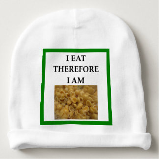 mac and cheese baby beanie