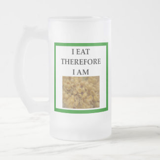 mac and cheese frosted glass beer mug