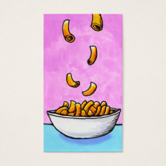 Mac and cheese fun colorful original tiny art business card