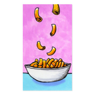 Mac and cheese fun colorful original tiny art pack of standard business cards